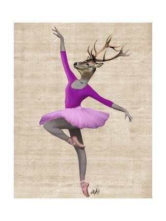 Ballet Deer in Pink
