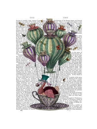 Dodo in Teacup with Dragonflies