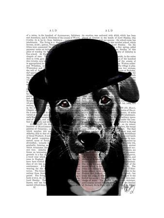 Black Labrador in Bowler Hat