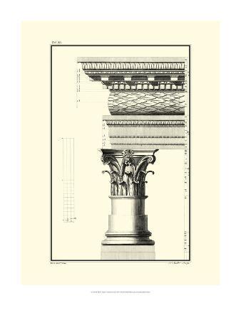 Crackled B&W Column and Cornice III