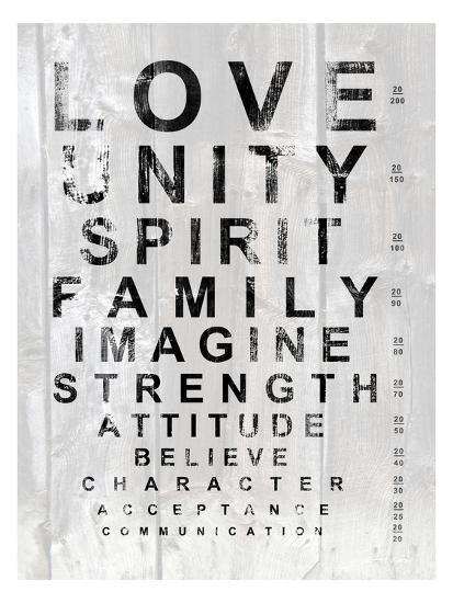 Eye Chart I Print By Andrea James At Allposters