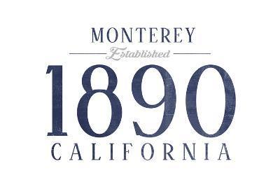 Monterey, California - Established Date (Blue)