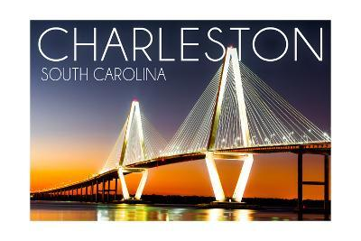 Charleston, South Carolina - Arthur Ravenel Jr. Bridge at Sunset