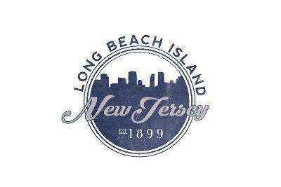 Long Beach Island, New Jersey - Skyline Seal (Blue)
