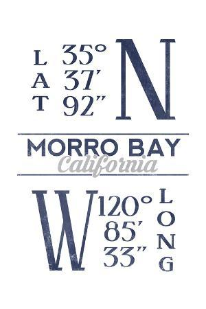 Morro Bay, California - Latitude and Longitude (Blue)
