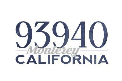 Monterey, California - 93940 Zip Code (Blue)