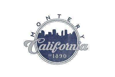 Monterey, California - Skyline Seal (Blue)