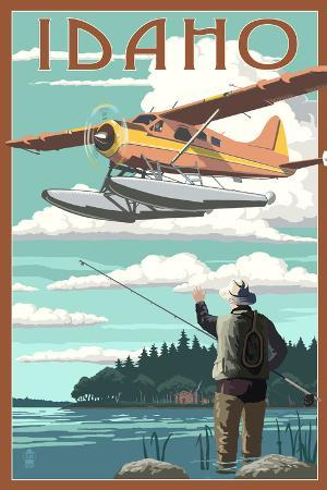 Idaho - Float Plane and Fisherman