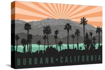 Burbank, California - Palm Trees and Mountains