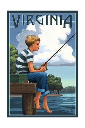 Virginia - Boy Fishing