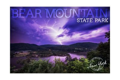 Bear Mountain State Park, New York - Purple Sky and Lightning