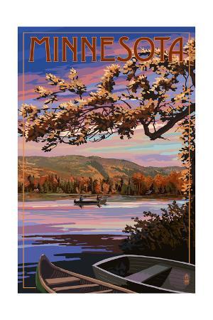 Minnesota - Lake Sunset Scene