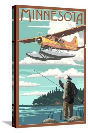 Minnesota - Float Plane and Fisherman