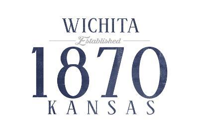 Wichita, Kansas - Established Date (Blue)