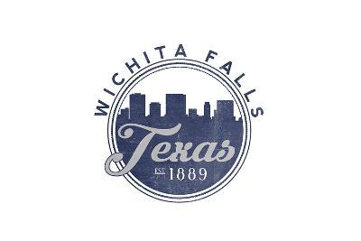 Wichita Falls, Texas - Skyline Seal (Blue)