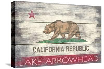 Lake Arrowhead, California - Barnwood State Flag