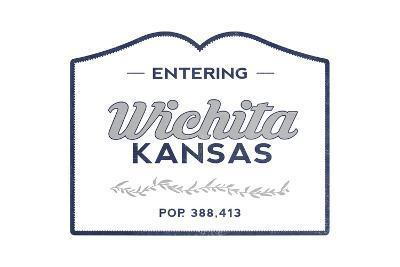Wichita, Kansas - Now Entering (Blue)