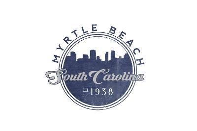 Myrtle Beach, South Carolina - Skyline Seal (Blue)