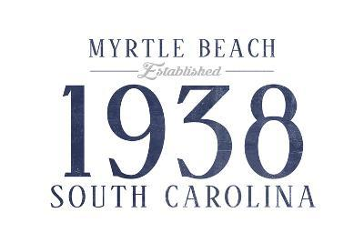 Myrtle Beach, South Carolina - Established Date (Blue)