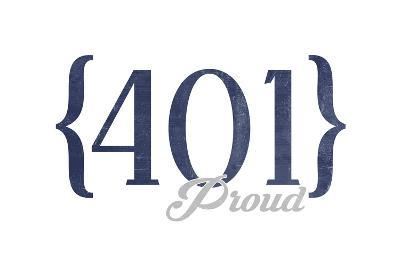 Newport, Rhode Island - 401 Area Code (Blue)