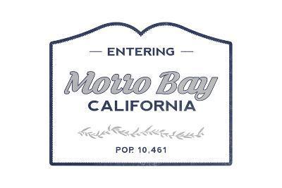 Morro Bay, California - Now Entering (Blue)