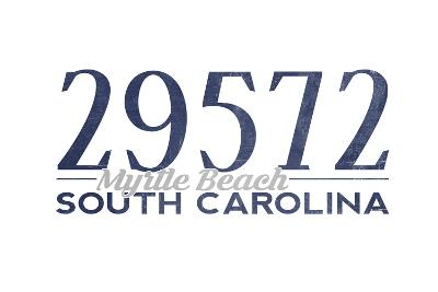 Myrtle Beach, South Carolina - 29572 Zip Code (Blue)