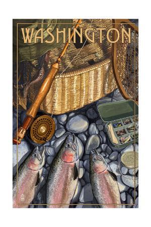 Washington - Fishing Still Life