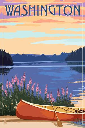 Washington - Canoe and Lake