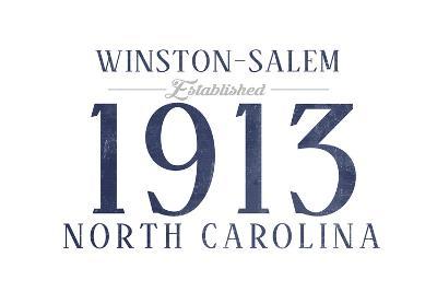 Winston-Salem, North Carolina - Established Date (Blue)