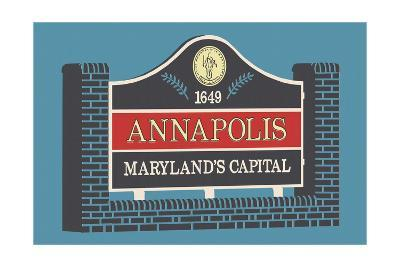 Annapolis, Maryland - Annapolis Sign