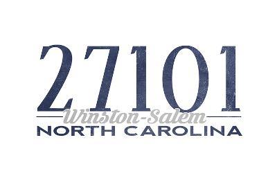 Winston-Salem, North Carolina - 27101 Zip Code (Blue)