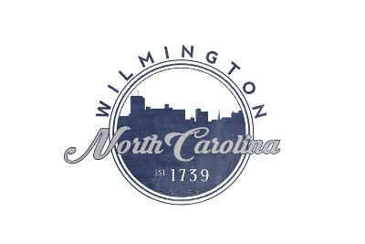 Wilmington, North Carolina - Skyline Seal (Blue)