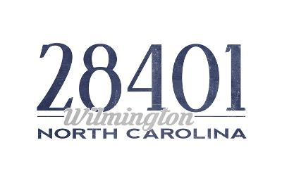 Wilmington, North Carolina - 28401 Zip Code (Blue)