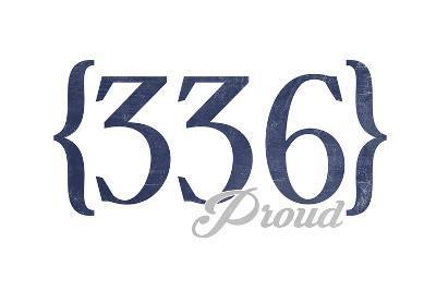 Winston-Salem, North Carolina - 336 Area Code (Blue)