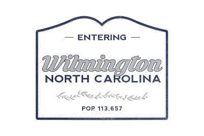 Wilmington, North Carolina - Now Entering (Blue)