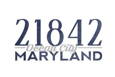 Ocean City, Maryland - 21842 Zip Code (Blue)