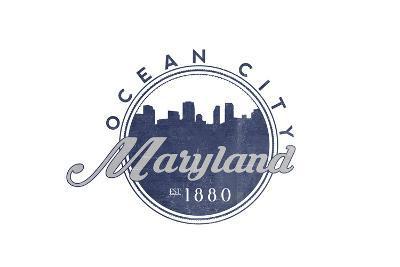 Ocean City, Maryland - Skyline Seal (Blue)
