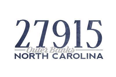 Outer Banks, North Carolina - 27915 Zip Code (Blue)
