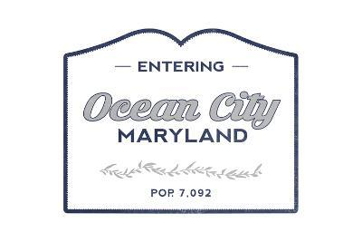Ocean City, Maryland - Now Entering (Blue)