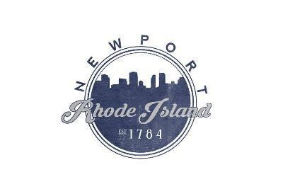 Newport, Rhode Island - Skyline Seal (Blue)