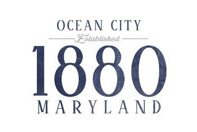 Ocean City, Maryland - Established Date (Blue)