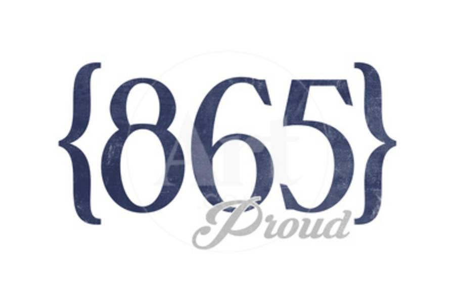 Pigeon Forge, Tennessee - 865 Area Code (Blue)