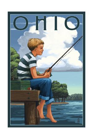 Ohio - Boy Fishing