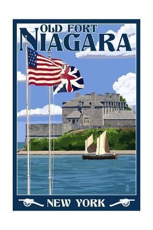 Old Fort Niagara, New York - Day Scene