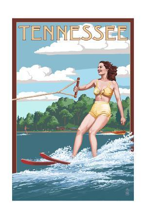 Tennessee - Water Skier and Lake
