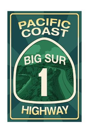 Highway 1, California - Big Sur - Pacific Coast Highway Sign