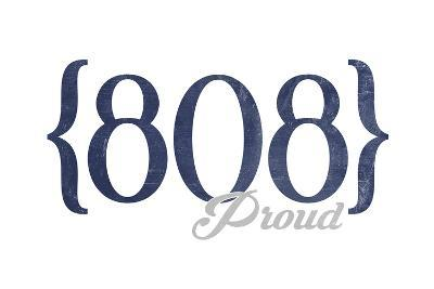 Lahaina, Hawaii - 808 Area Code (Blue)