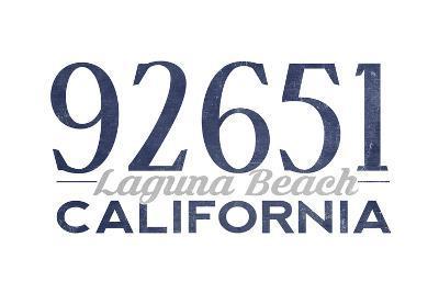 Laguna Beach, California - 92651 Zip Code (Blue)