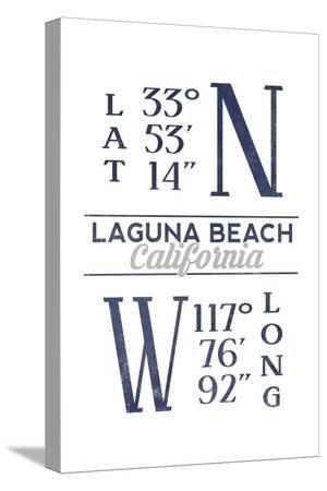 Laguna Beach, California - Latitude and Longitude (Blue)