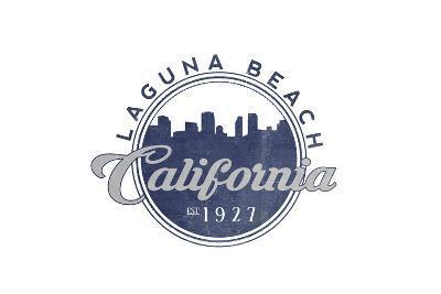Laguna Beach, California - Skyline Seal (Blue)